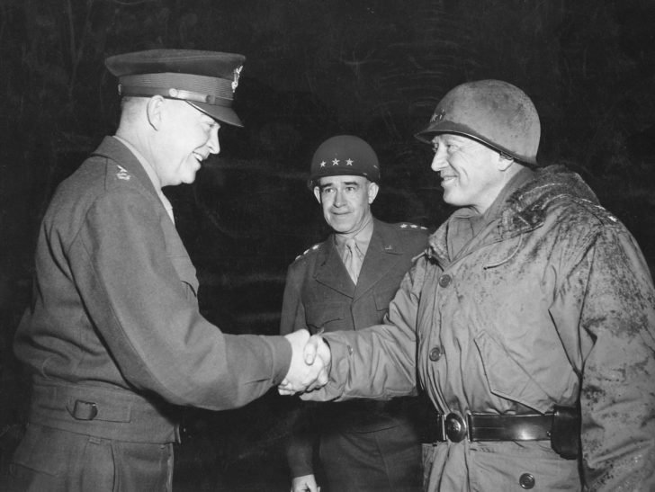 Dwight Eisenhower, Omar Bradley, George Patton