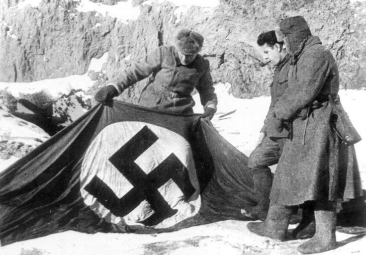 Nazi flag with a swastika