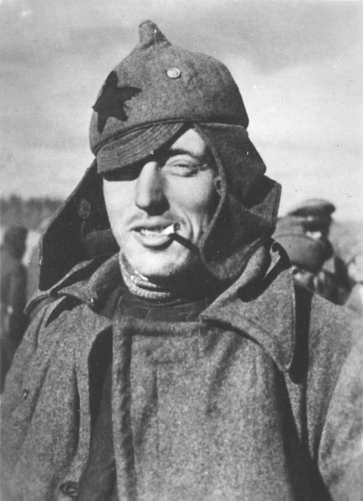 Captured Red Army soldier
