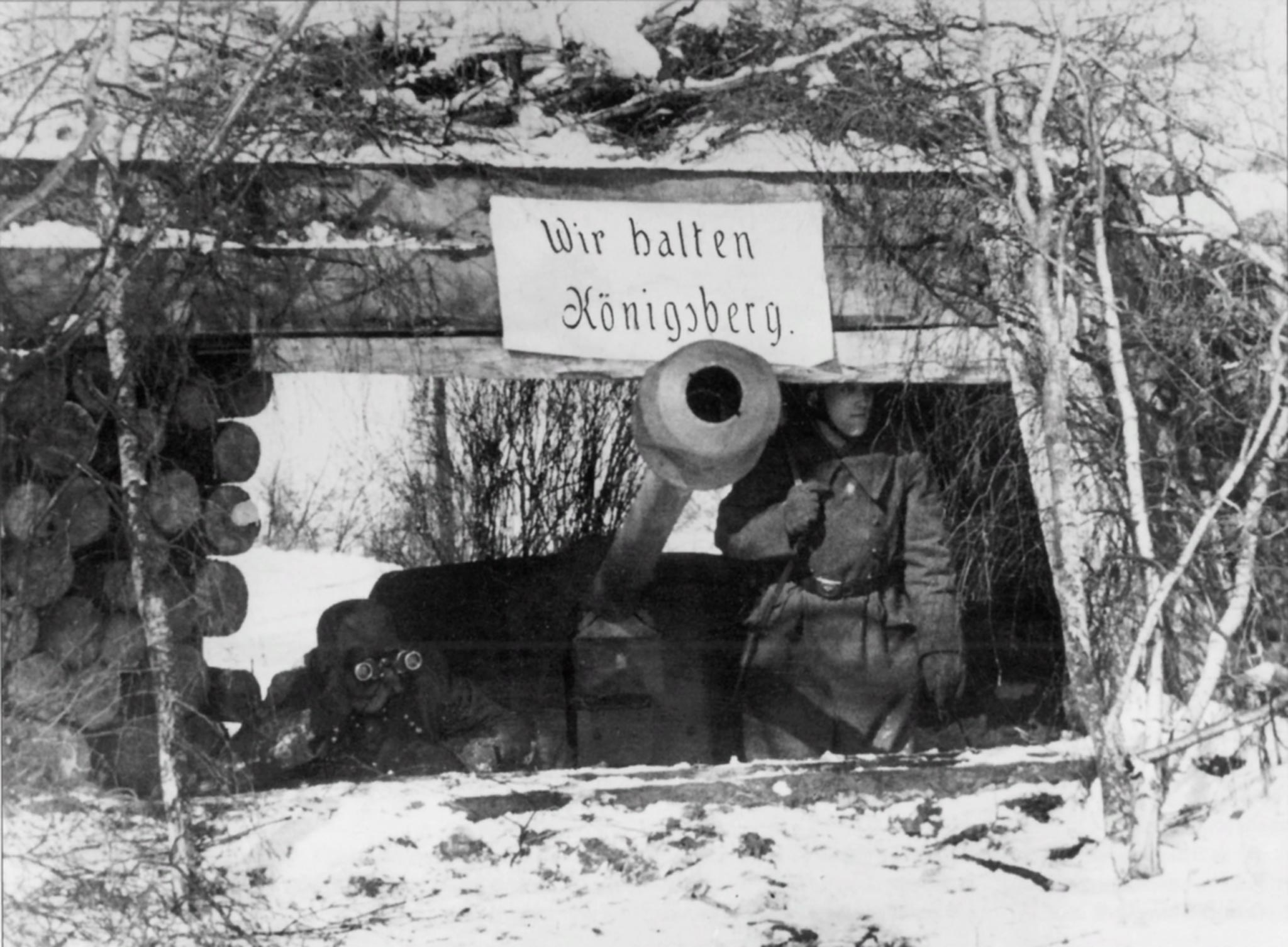 PaK-40 anti-tank gun in a defensive position in the Battle of