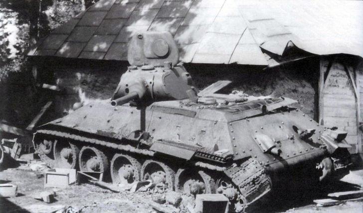 Damaged T-34-76