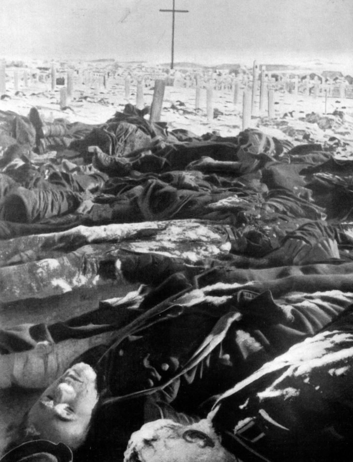The bodies of German soldiers