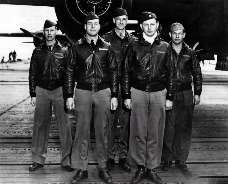 Crew of the B-25 bomber