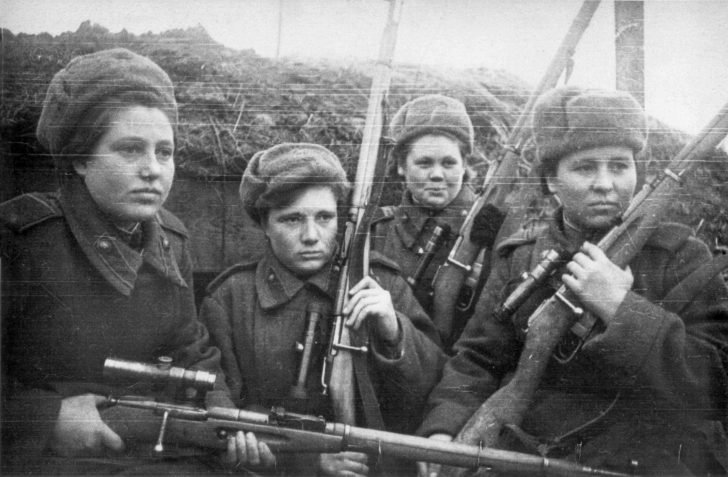 Soviet girls snipers