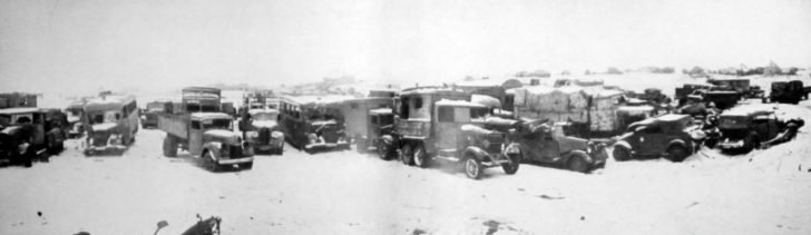 Captured German vehicles