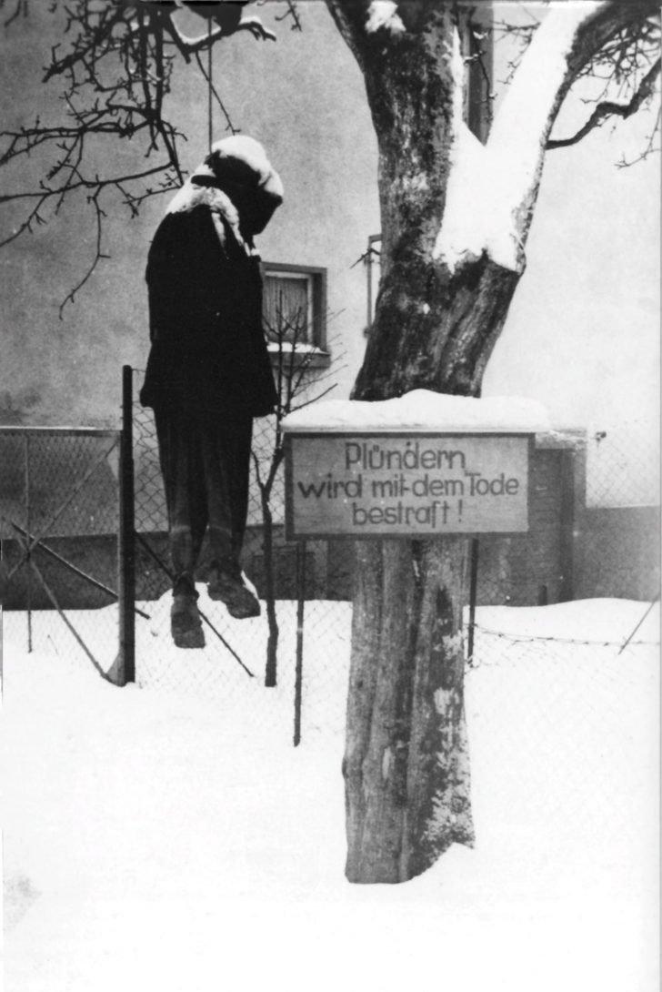 German soldier hanged