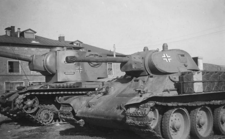 Captured T-34 and KV-2