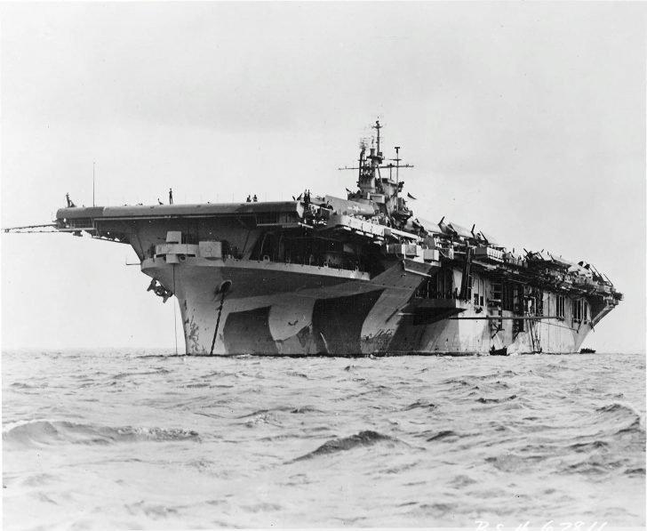 Yorktown US aircraft carrier