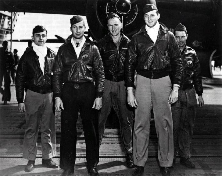 Crew of the B-25 bomber