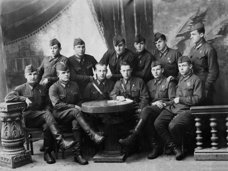 instructors and cadets of Borisoglebsky Aviation School
