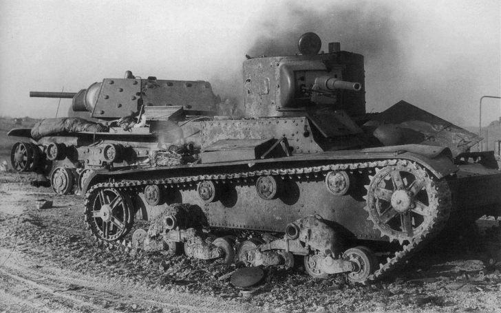 T-26, KV-1