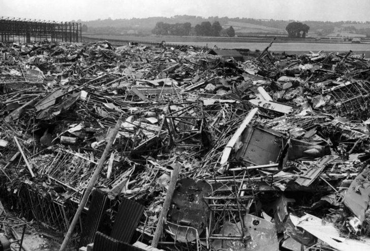 wreckage of German aircraft