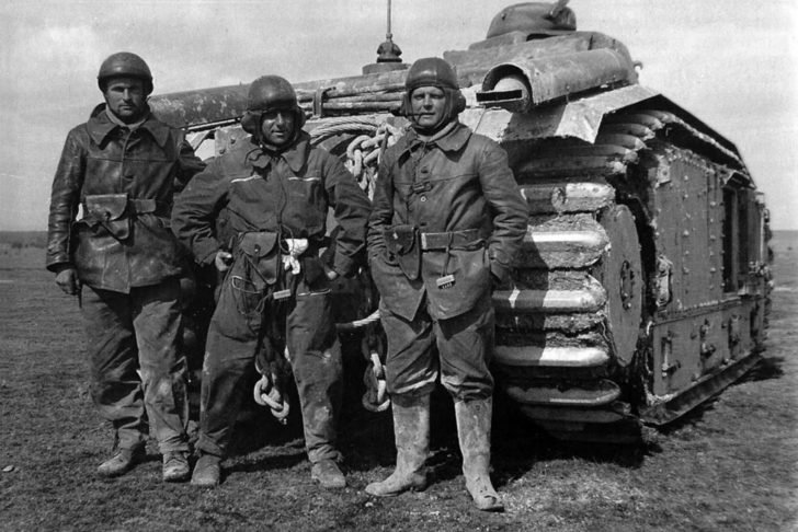 crew of the Char B1 Fleurie
