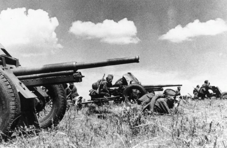 45-mm anti-tank guns