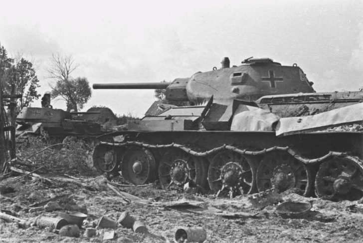 Captured T-34 tank