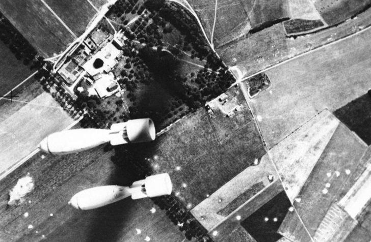 Bombardment by British aircraft