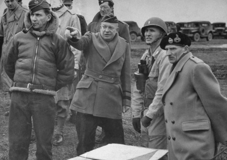 Dwight Eisenhower, Bernard Montgomery, Arthur Tedder
