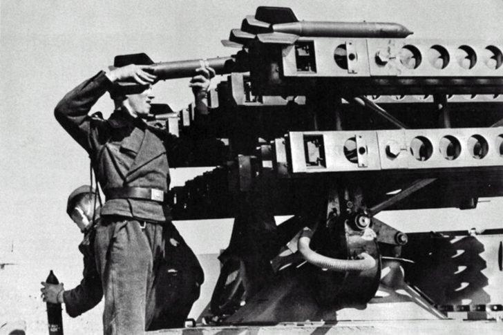 German 80mm multiple rocket launcher system