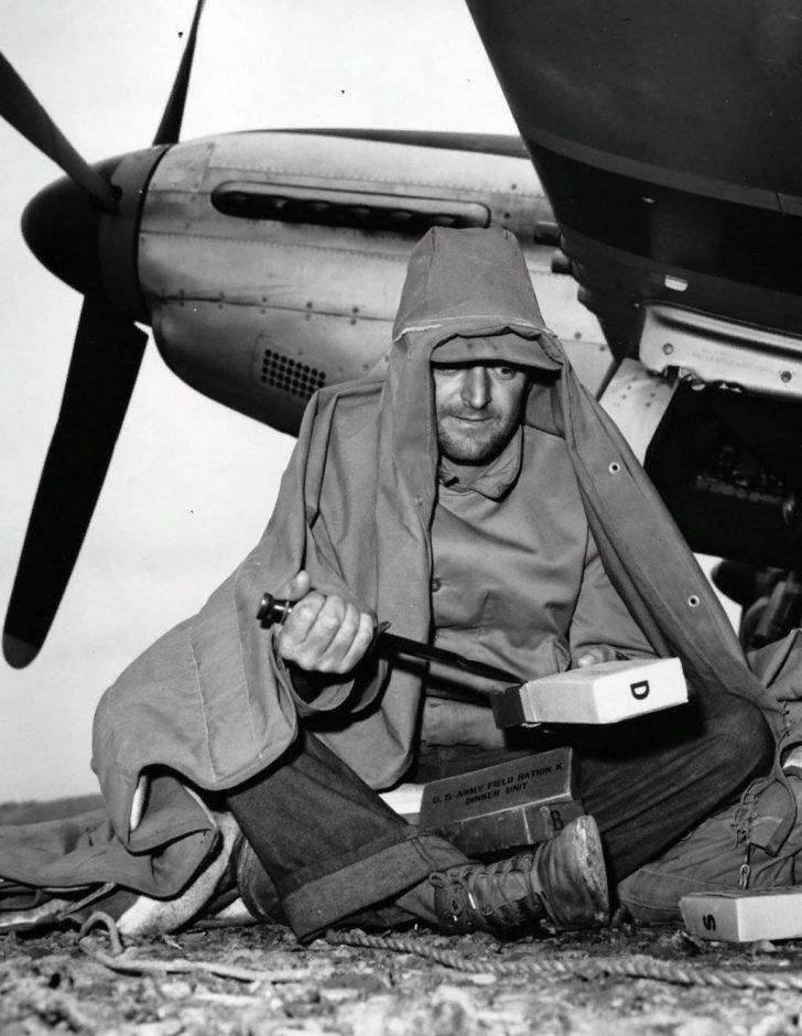 Technician of P-51D Mustang