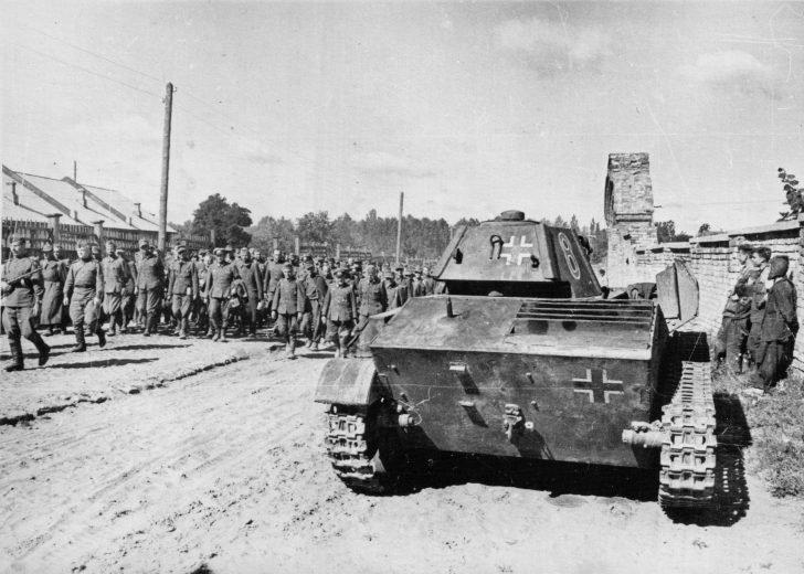 German prisoners, T-70
