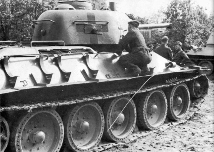 German tanker, T-34-76
