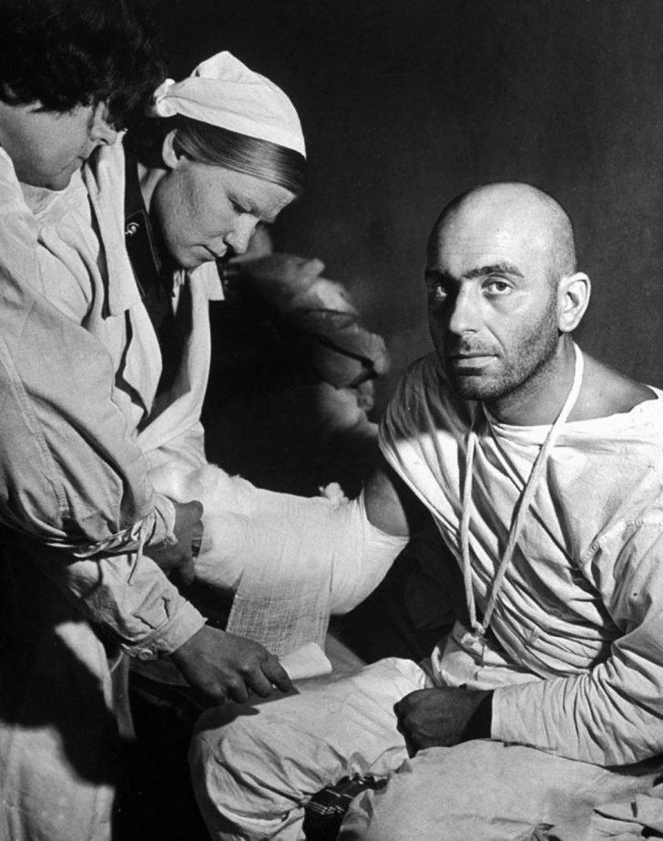 Soviet medics, soldier Stephen Dorisch