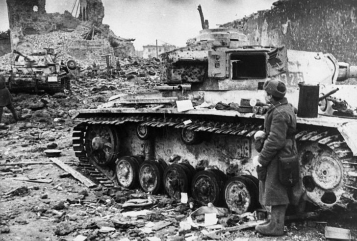 German tanks abandoned