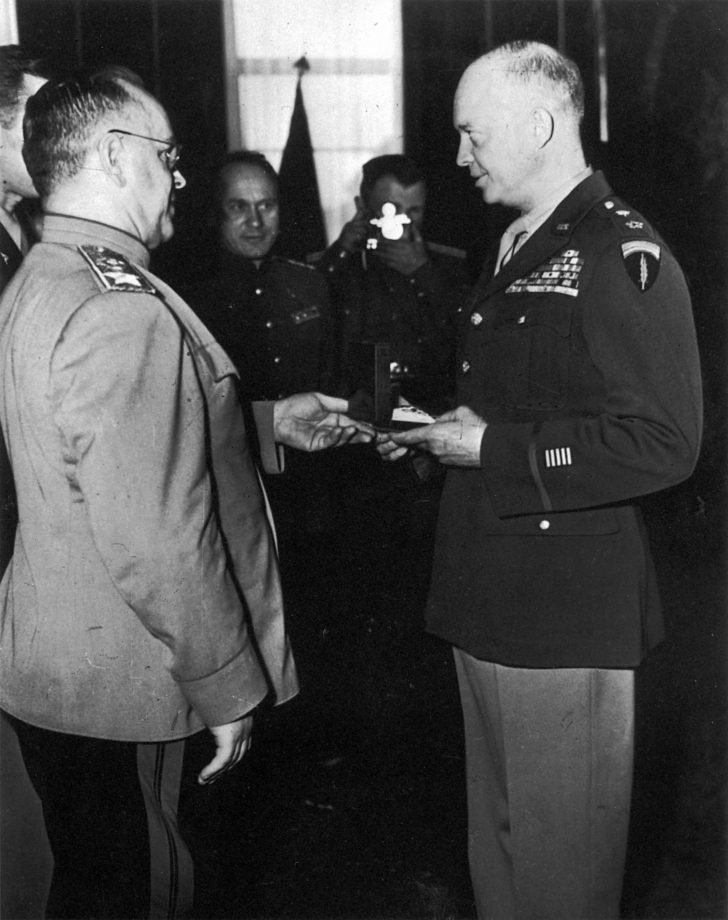 Marshal Georgy Zhukov, General Dwight Eisenhower