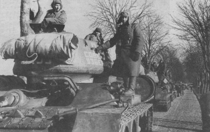 Tank convoy 20 years of Soviet Uzbekistan