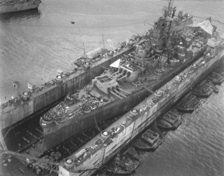 South Dakota Battleship, ABSD-6 dry dock