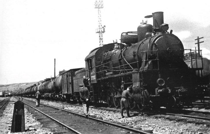 Soviet echelon with fuel
