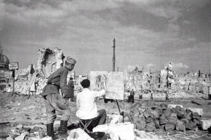 Soviet soldier in Dresden