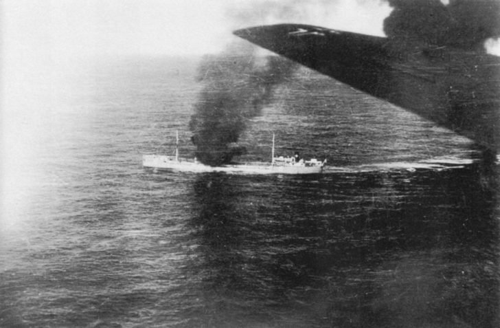 Tunisia ship, Focke-Wulf Fw.200C bomber