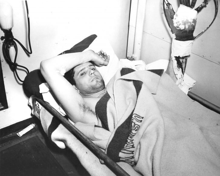 Wounded American sailor Robert J. Croak