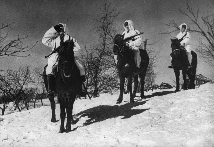 Soviet horse patrol