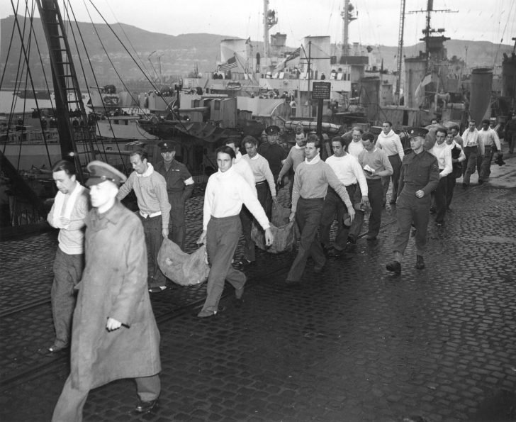Captured sailors from U-175