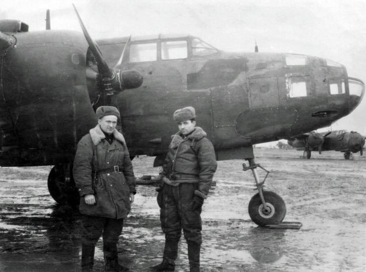 Soviet officers, A-20 Boston