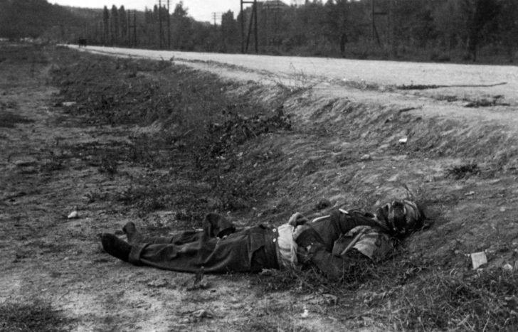 The deceased Wehrmacht soldier
