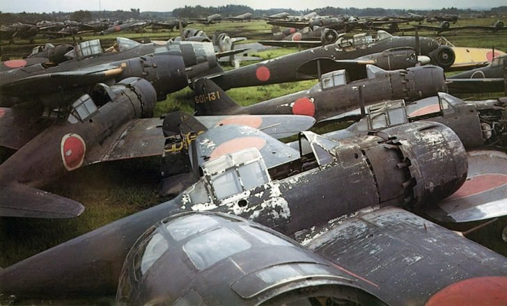 Abandoned Japanese aircraft