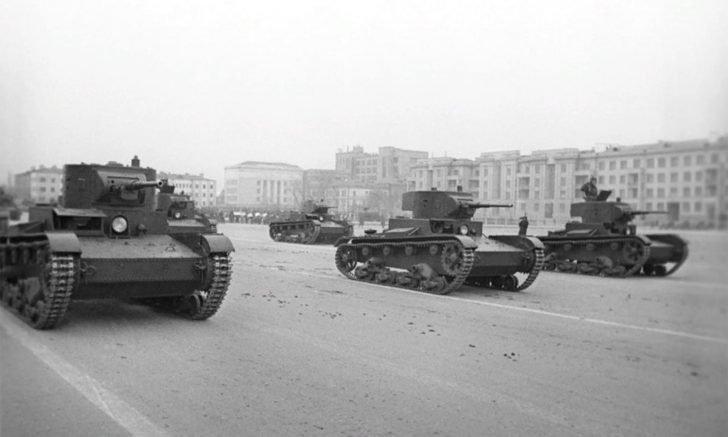 T-26 light tanks