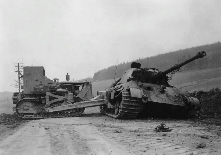 The US 1st Army bulldozer, King Tiger