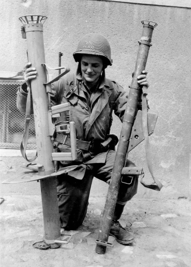American soldier,Panzerschreck, Bazooka