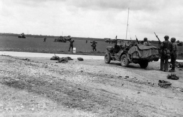 German soldiers, American units