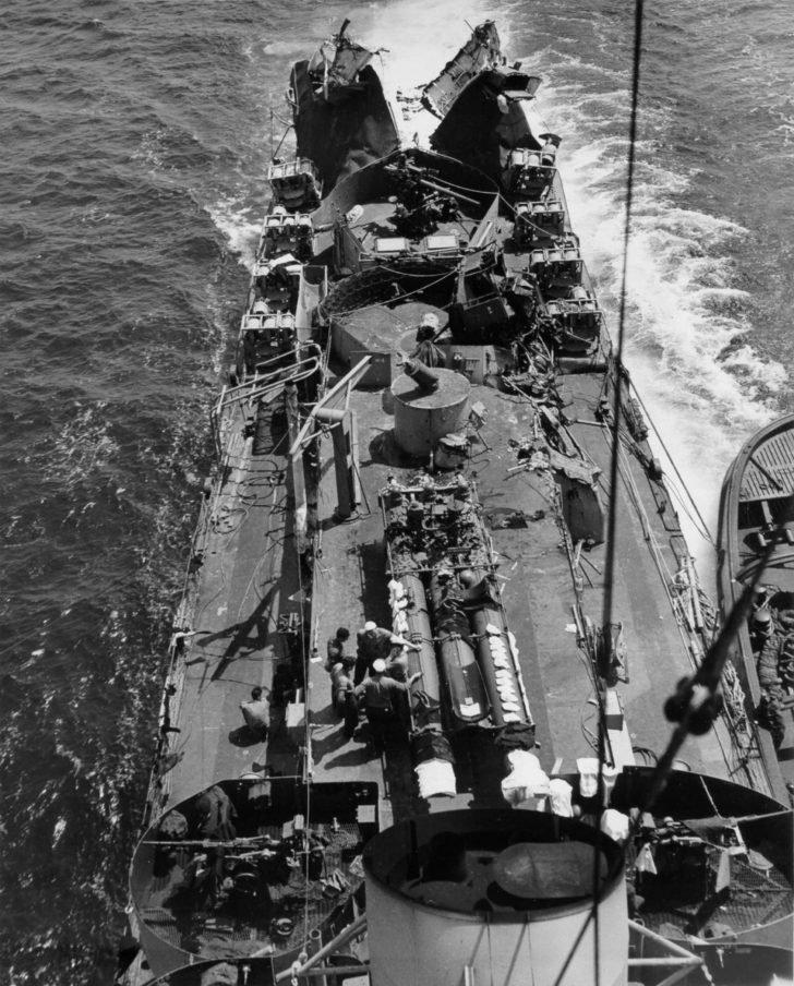 Damaged Menges US Coast Guard ship