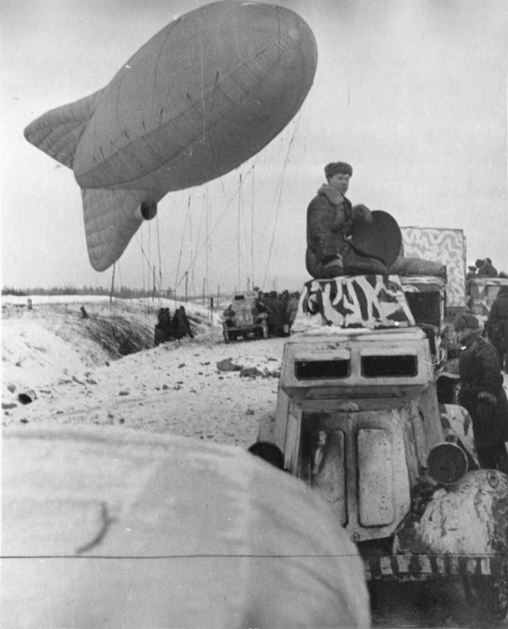Launch of a balloon of observation