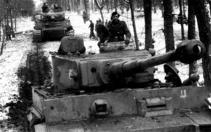 Tiger tanks from the 2nd SS division Das Reich