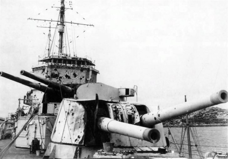 Broken Exeter heavy cruiser