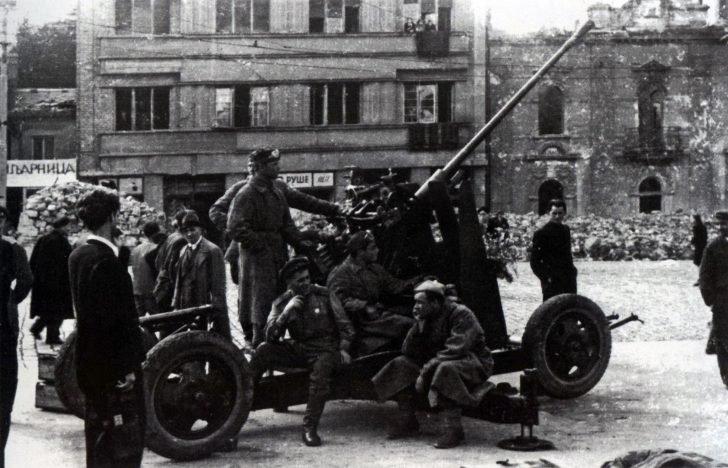 Soviet anti-aircraft gun
