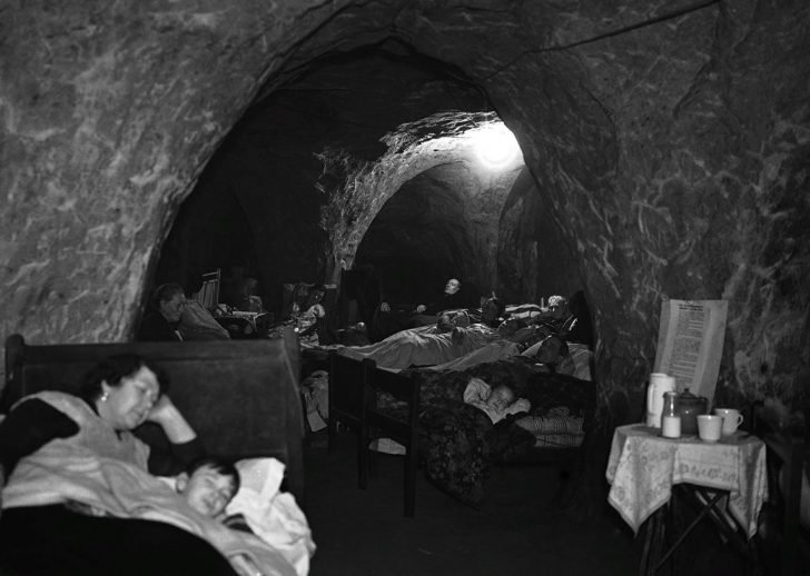 Luftwaffe raids in Hastings Caves