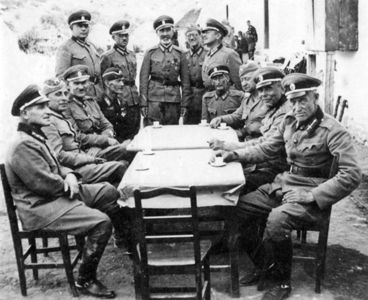 Officers from the Russian Protective Corps of Yugoslavia